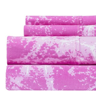 100% Cotton 400 Thread Count Marble Deep Pocket Printed Sheet Set (More options available)