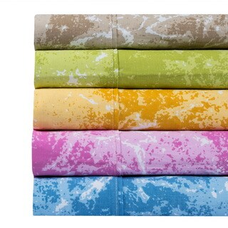 100% Cotton 400 Thread Count Marble Deep Pocket Printed Sheet Set