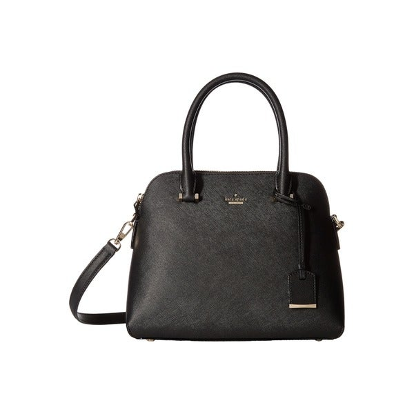 Kate Spade New York Cameron Street Maise Black Leather Satchel Handbag