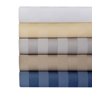 Cotton Rich 650 Thread Count Damask Stripe 4-piece Sheet Set
