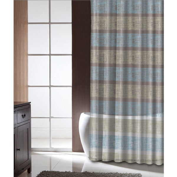 Famous Home Epsom Stripe Shower Curtain