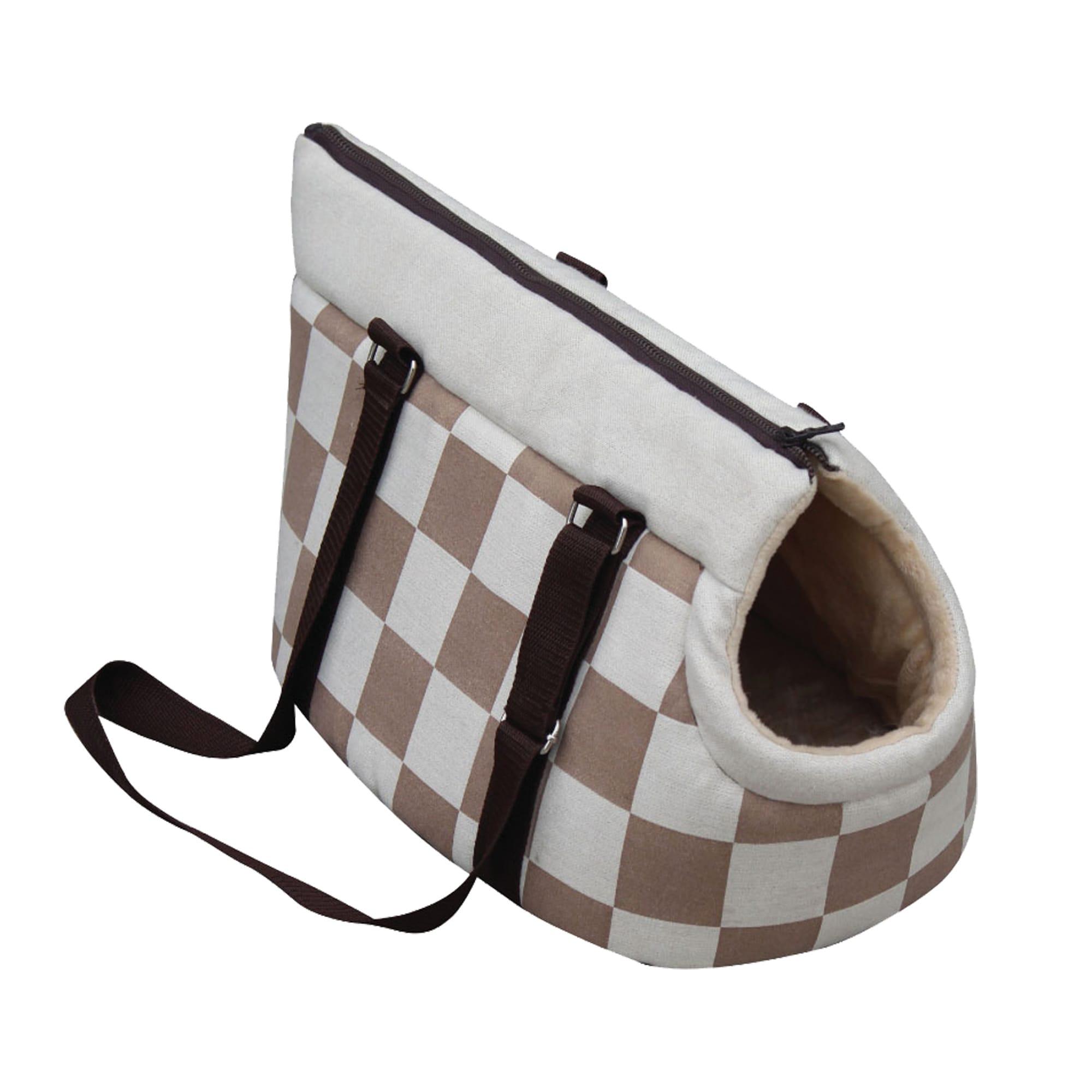 PetPals Pet Beige Checkered Carrier (PP00301035-4)