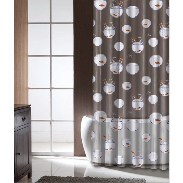 Famous Home Fish Trapeze Shower Curtain