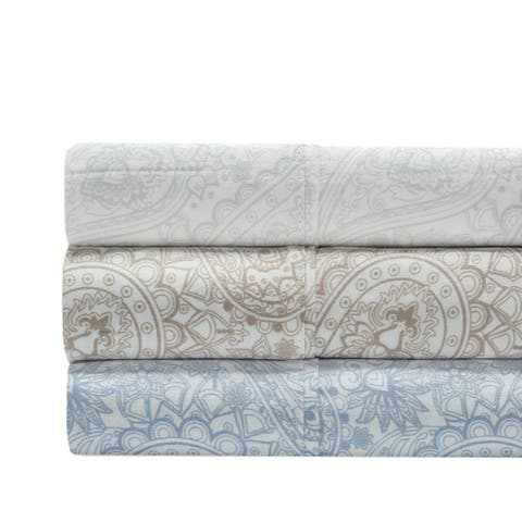 300 Thread Count 100% Cotton Paisley Bed Sheet Set