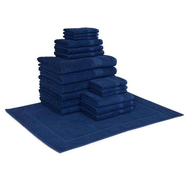 Hillsboro 19-Piece Towel Set (6-Bath, 6-Hand, 6-Wash and 1 Tub Mat)