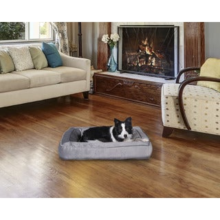 Rectangular Bolster Pet Bed Cuddler