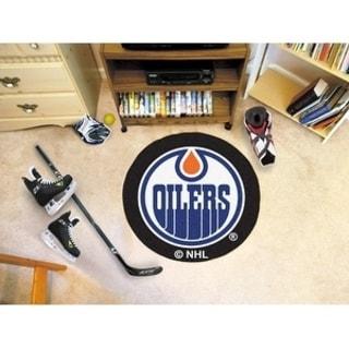 """NHL - Edmonton Oilers Puck Mat 27"""" diameter"""