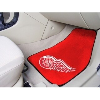 "NHL - Detroit Red Wings 2-pc Printed Carpet Car Mats 17""x27"""