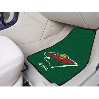"NHL - Minnesota Wild 2-pc Printed Carpet Car Mats 17""x27"""