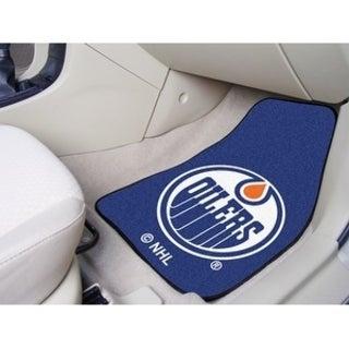 "NHL - Edmonton Oilers 2-pc Printed Carpet Car Mats 17""x27"""