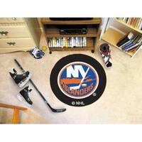 """NHL - New York Islanders Puck Mat 27"""" diameter"""