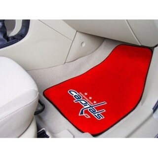 "NHL - Washington Capitals 2-pc Printed Carpet Car Mats 17""x27"""