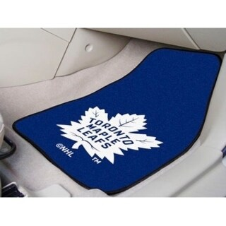 "NHL - Toronto Maple Leafs 2-pc Printed Carpet Car Mats 17""x27"""