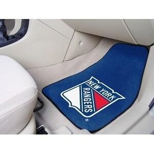 "NHL - New York Rangers 2-pc Printed Carpet Car Mats 17""x27"""