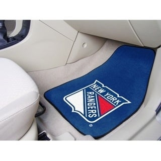 "NHL - New York Rangers 2-pc Printed Carpet Car Mats 17""x27"""