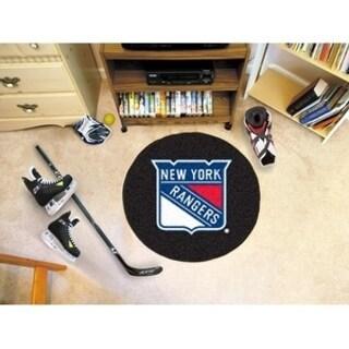 "NHL - New York Rangers Puck Mat 27"" diameter"