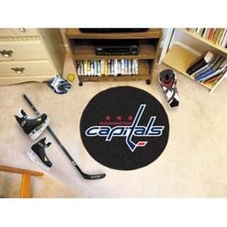 "NHL - Washington Capitals Puck Mat 27"" diameter https://ak1.ostkcdn.com/images/products/16393520/P22743820.jpg?impolicy=medium"