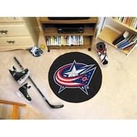 """NHL - Columbus Blue Jackets Puck Mat 27"""" diameter"""