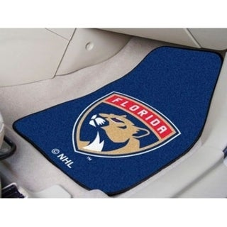 "NHL - Florida Panthers 2-pc Printed Carpet Car Mats 17""x27"""