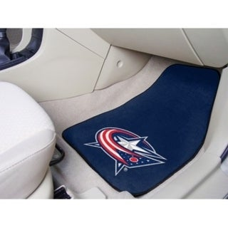 "NHL - Columbus Blue Jackets 2-pc Printed Carpet Car Mats 17""x27"""