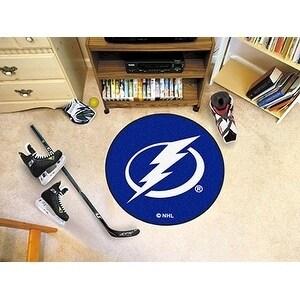 """NHL - Tampa Bay Lightning Puck Mat 27"""" diameter"""