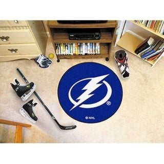 "NHL - Tampa Bay Lightning Puck Mat 27"" diameter"