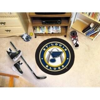 "NHL - St. Louis Blues Puck Mat 27"" diameter"