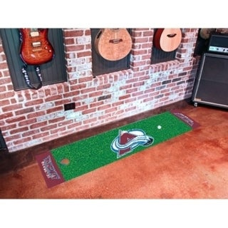 "NHL - Colorado Avalanche Putting Green Mat 18""x72"""
