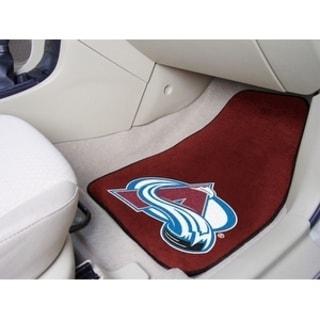 "NHL - Colorado Avalanche 2-pc Printed Carpet Car Mats 17""x27"""