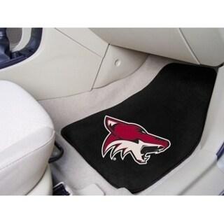 "NHL - Arizona Coyotes 2-pc Printed Carpet Car Mats 17""x27"""