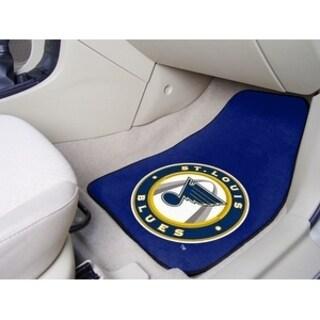 "NHL - St. Louis Blues 2-pc Printed Carpet Car Mats 17""x27"""
