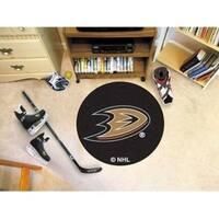 """NHL - Anaheim Ducks Puck Mat 27"""" diameter"""