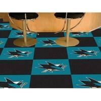 "NHL - San Jose Sharks 18""x18"" Carpet Tiles"