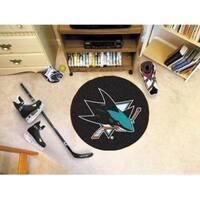 "NHL - San Jose Sharks Puck Mat 27"" diameter"