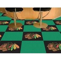 """NHL - Chicago Blackhawks 18""""x18"""" Carpet Tiles"""