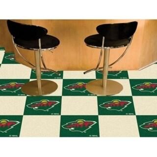 "NHL - Minnesota Wild 18""x18"" Carpet Tiles"