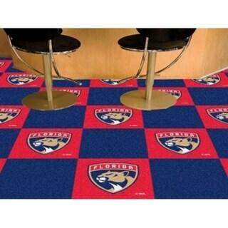 """NHL - Florida Panthers 18""""x18"""" Carpet Tiles"""