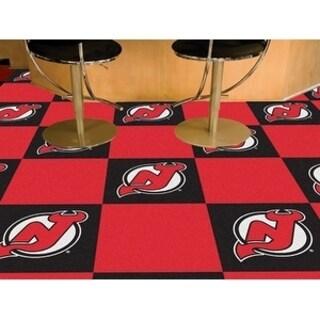 "NHL - New Jersey Devils 18""x18"" Carpet Tiles"