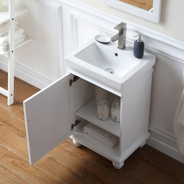 OVE Decors Amber White 20 Inch Bathroom Vanity   Free Shipping Today    Overstock.com   22743718