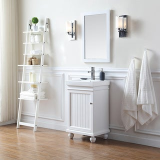OVE Decors Amber White 20-inch Bathroom Vanity