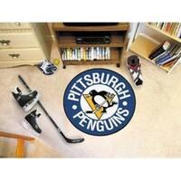 """NHL - Pittsburgh Penguins Puck Mat 27"""" diameter"""
