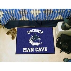 "NHL - Vancouver Canucks Man Cave Starter Rug 19""x30"""