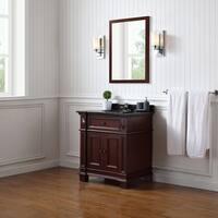 OVE Decors Essex 31 Dark Cherry Wood Bathroom Vanity