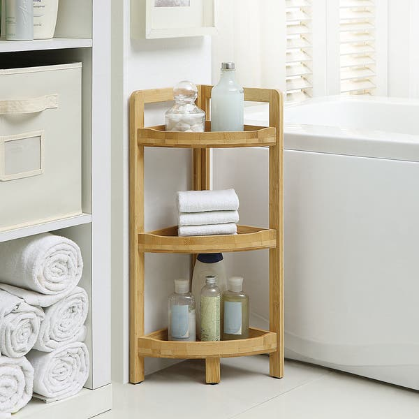 3 Tier Corner Bathroom Shelf