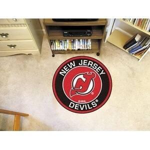 "NHL - New Jersey Devils Roundel Mat 27"" diameter"