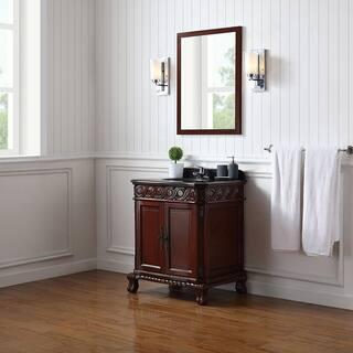 Ove Decors T Dark Cherry Wood 30 Inch Bathroom Vanity