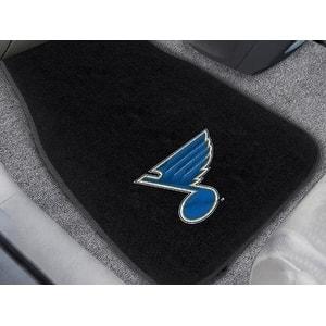 NHL - St. Louis Blues 2-pc Embroidered Car Mat Set