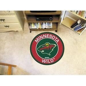 "NHL - Minnesota Wild Roundel Mat 27"" diameter"