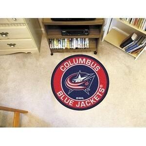 "NHL - Columbus Blue Jackets Roundel Mat 27"" diameter"