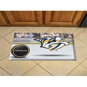 """NHL - Nashville Predators Scraper Mat 19""""x30"""" - Puck"""